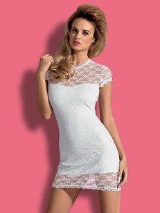 Dressita sukienka i stringi biała - odkrywająca plecy sukienka z białej koronki PROMOCJA!