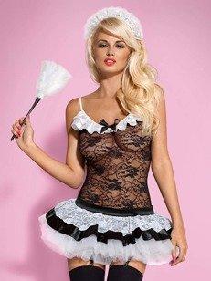 Housemaid kostium 5-częściowy - francuska pokojówka