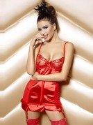 Naomi Set Red - piękna koszulka z wstążką