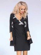 Sylvia sukienka czarna – elegancka sukienka z kontrastującym detalem PROMOCJA!
