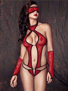 Ashley body - czerwone - uroczo i pikantnie WYPRZEDAŻ