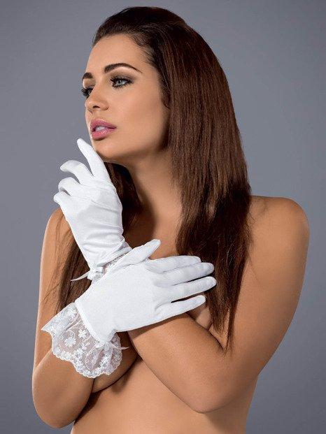 Etheria rękawiczki białe - delikatne rękawiczki zapewniające dreszczyk emocji Obsessive