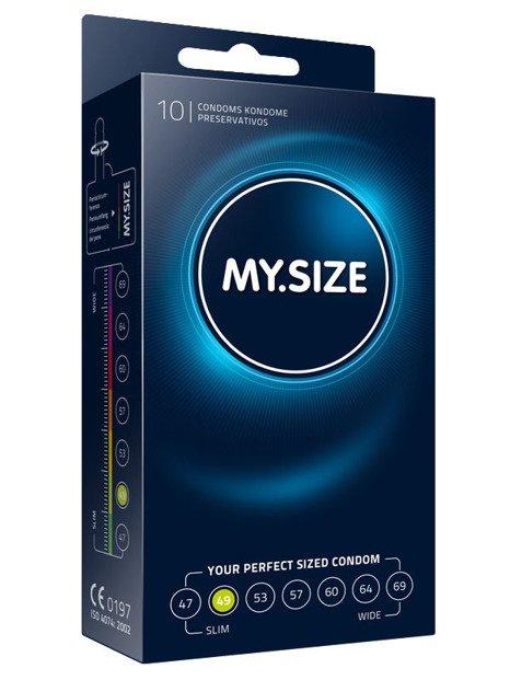 MY.SIZE 49  - dobrane do obwodu 10,0 - 11,0 cm (10 szt.)