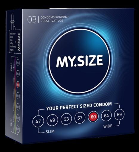 MY.SIZE 60  - dobrane do obwodu 12,0 - 13,0 cm (3 szt.)